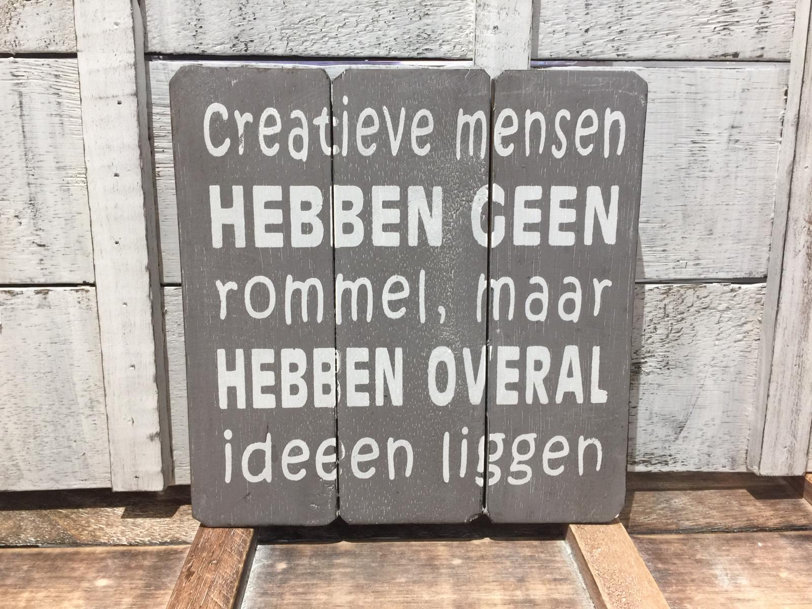 Creatieve Mensen Hebben Geen